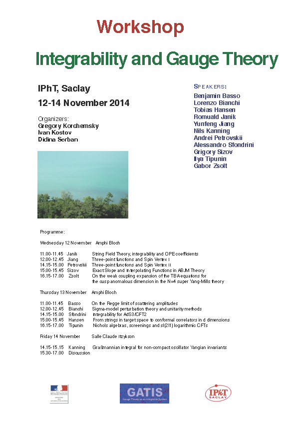 Workshop: Integrability and Gauge Theory