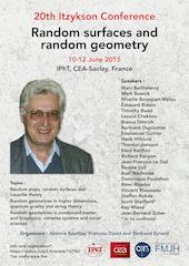 20ème conférence Itzykson, Surfaces et géométries aléatoires, 10-12 juin 2015