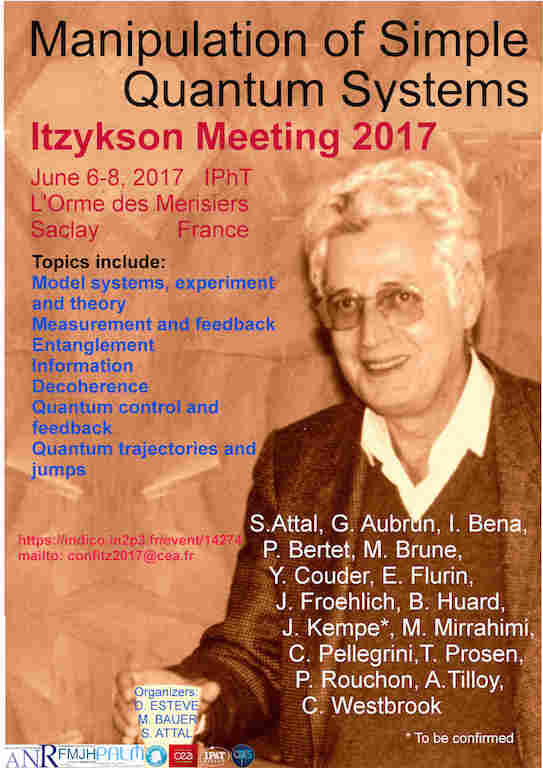22ème conférence Itzykson, manipulation of simple quantum systems, June 6-8  2017