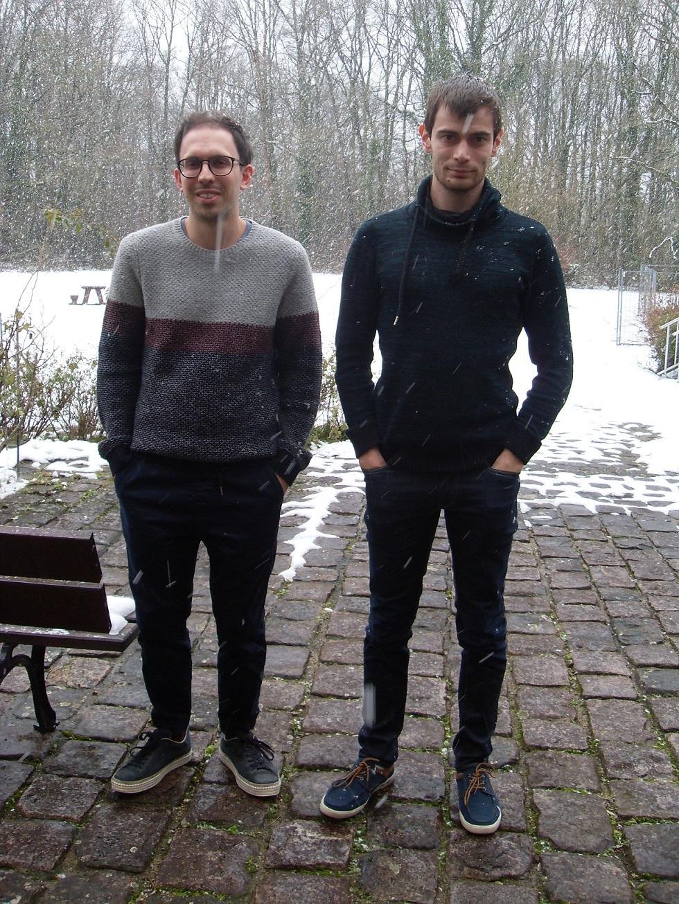 Maxime Grandadam et Giuliano Giacalone, étudiants à l'IPhT, invités à l'émission
